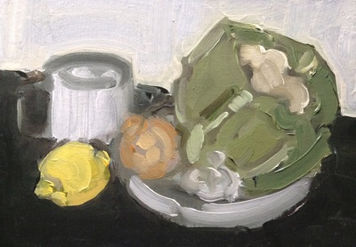 Still Life Study - 14.8x21cm, Oil on Card, 2015, Martin Hill