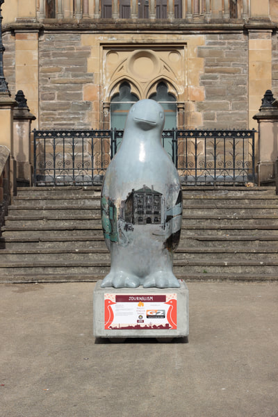 Journalism, Maggie's Penguin Parade, Martin Hill, Dundee