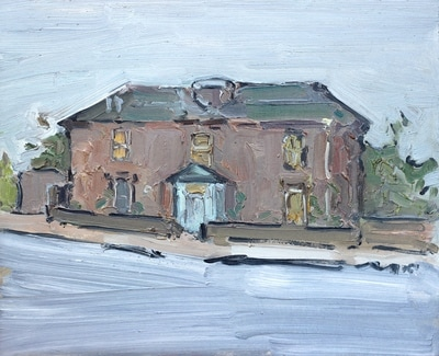 Murder House - 25x30cm, Oil on Board, 2012, Martin Hill