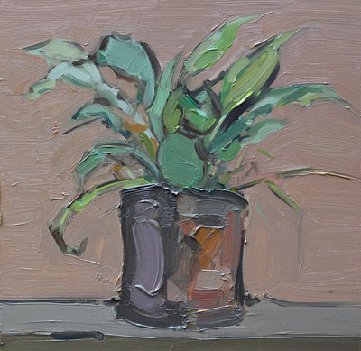 Potted Plant - 30x30cm, Oil on Board, 2015