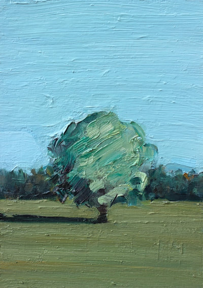 Tree Study - 15x21cm, Oil on Card, 2017, Martin Hill